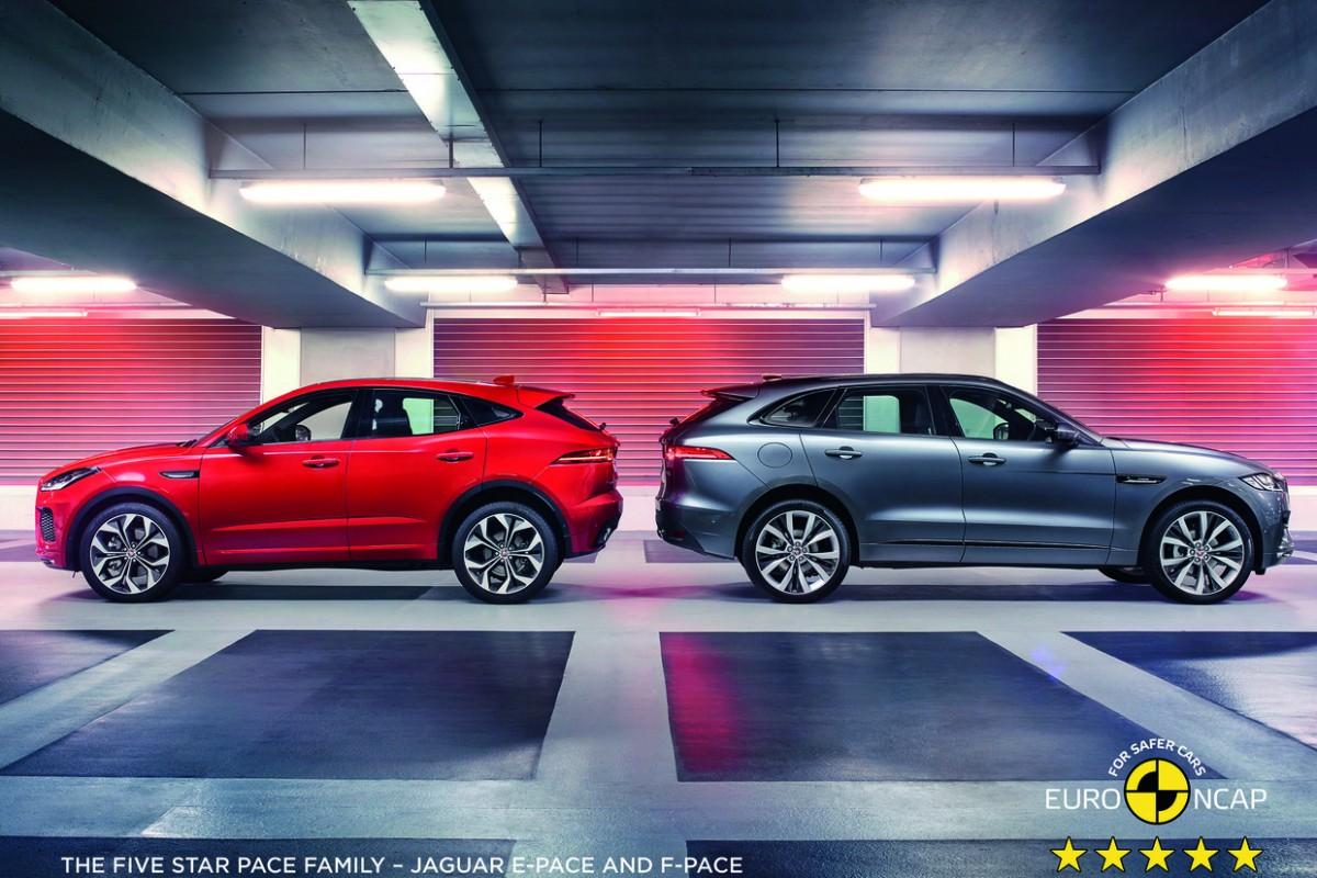 Jaguar F-Pace conquista cinco estrelas nos testes de segurança da Euro NCAP