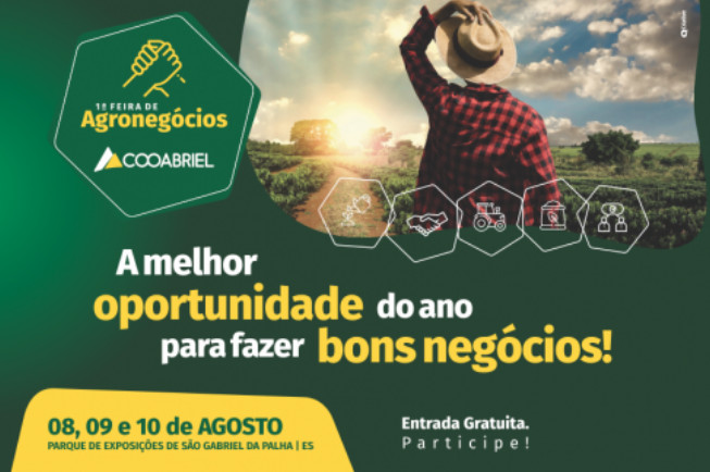 1ª Feira de Agronegócios da Cooabriel será realizada em agosto