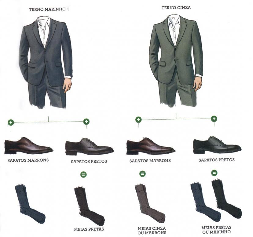 Costumes cinza e azuis seguem este manual.