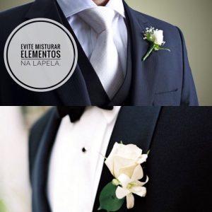 Flores na lapela é ótima escolha para o noivo.