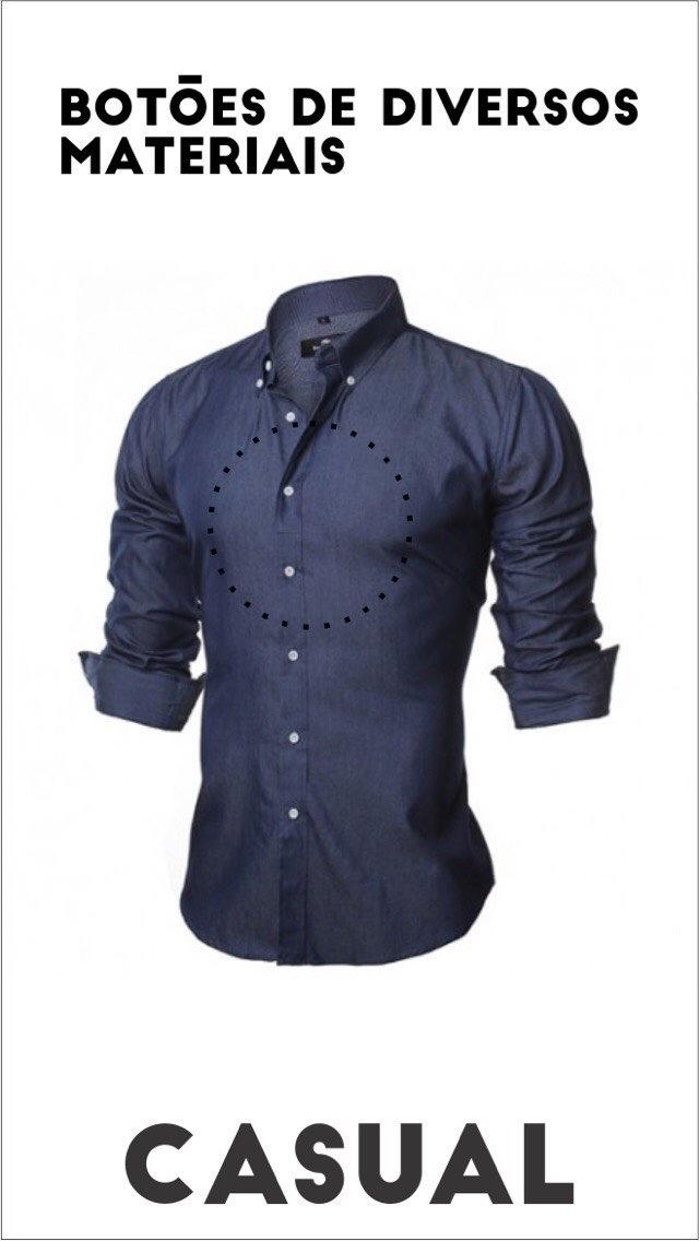 É importante saber a diferença entre os tipos de camisa e temos que saber  usar de modo certo para fazer bonito. Então 6bad56f9834c4