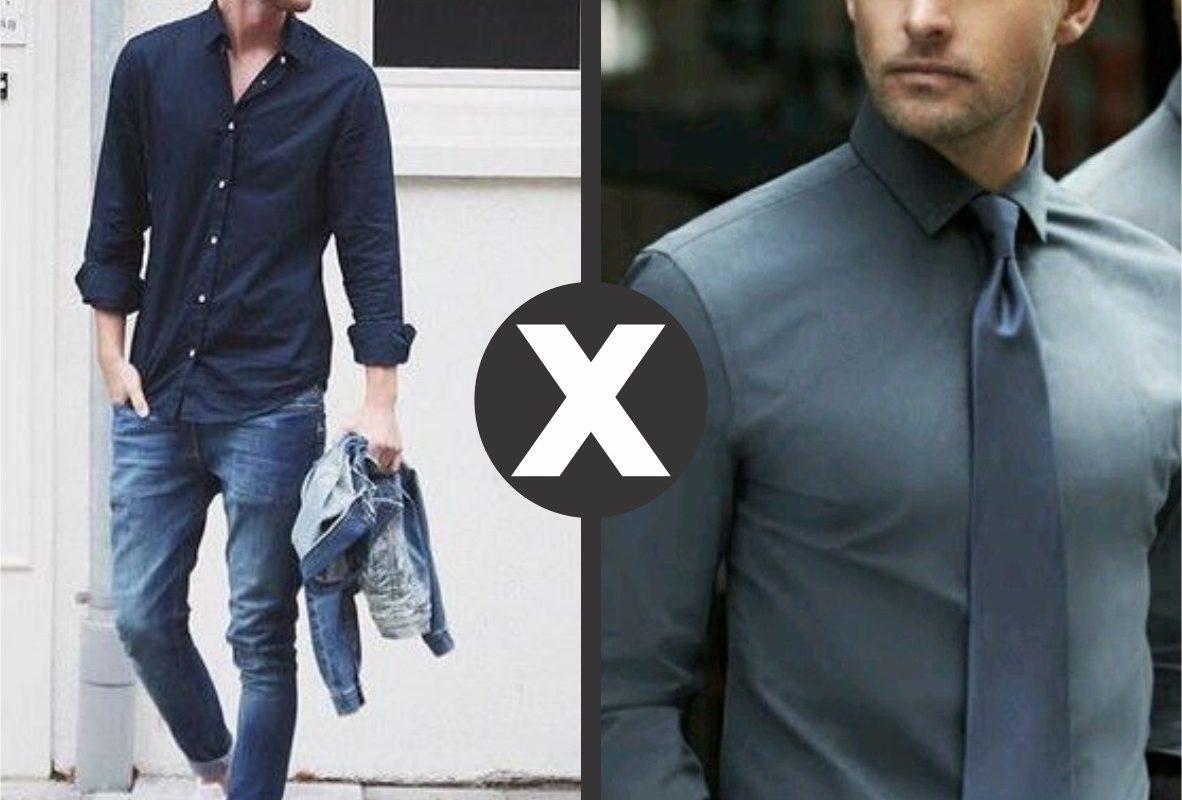 249f0118ad Diferença entre camisas sociais x casuais - Du Ponto de Vista Masculino