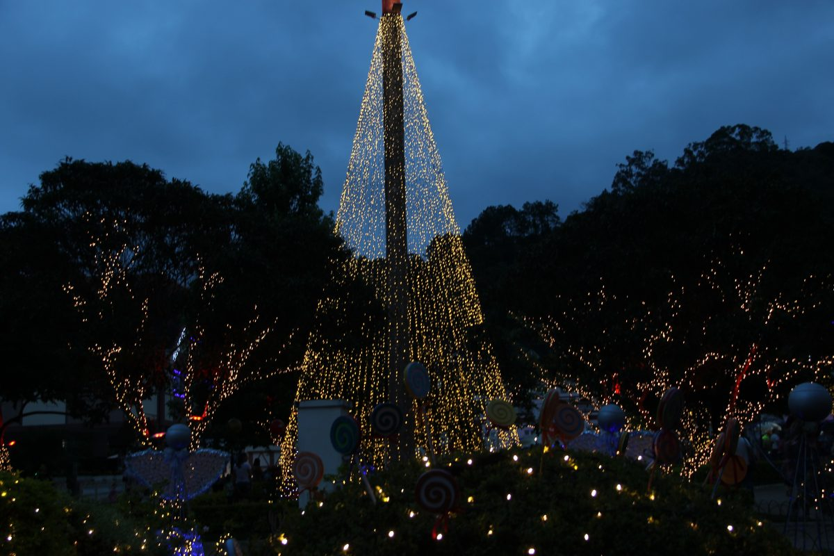 Brilho de Natal encanta moradores e turistas de Domingos Martins