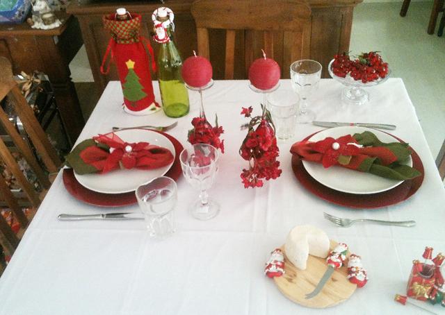 Resultado de imagem para mesa de Natal para dois