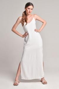 Vestido longo branco Villa Fiore - R$ 179,00