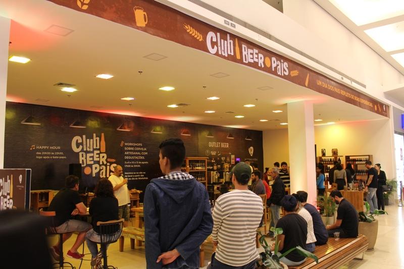 Clube da cerveja no Shopping Vitória para comemorar o Dia dos Pais