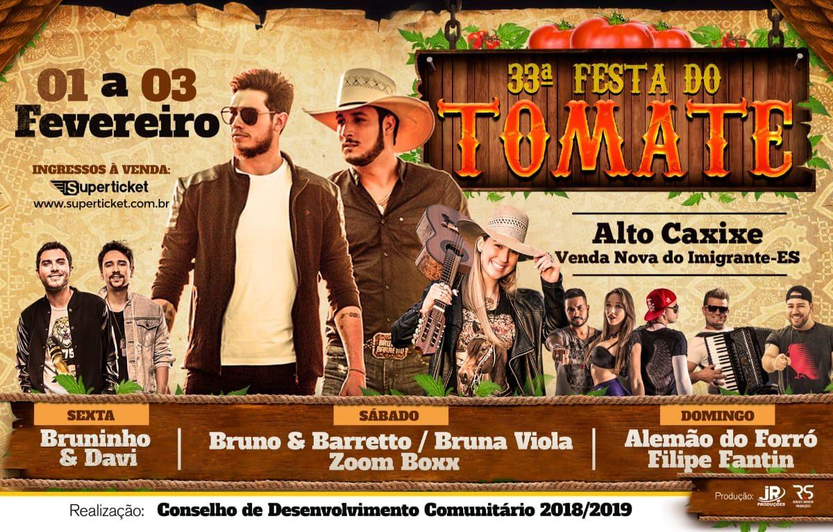 Festa do Tomate agita Venda Nova com atrações nacionais
