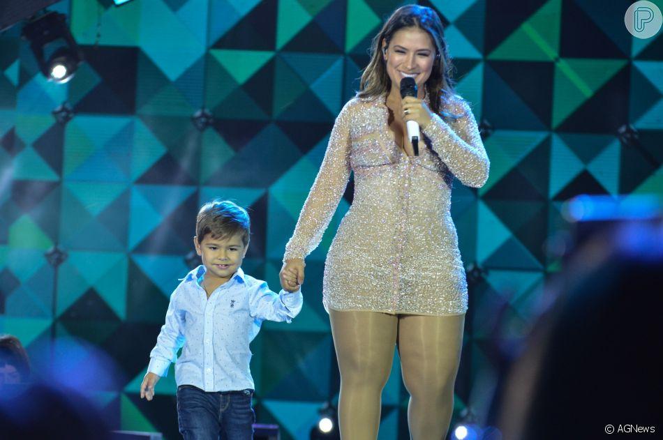 Simone e o filho Henry