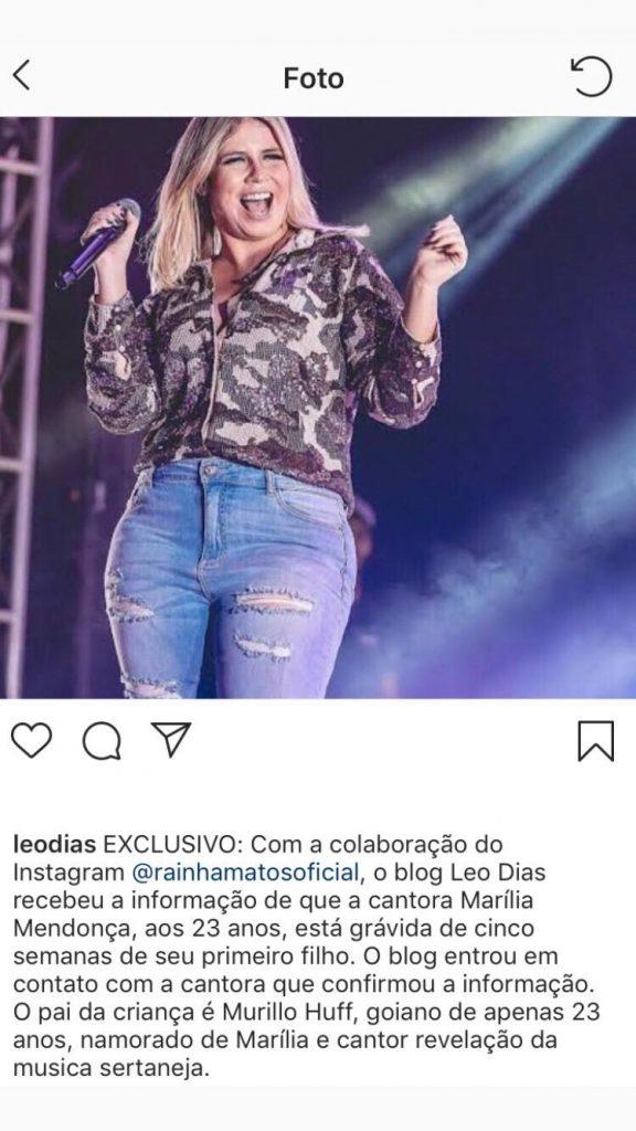 Marília Mendonça grávida
