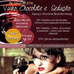 Workshop: vinho, chocolate e sedução - Sexo e Prazer