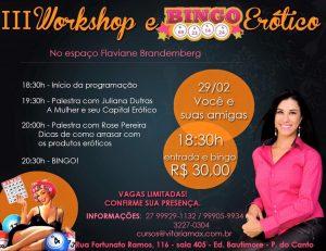 Tá chegando: 3º workshop e bingo erótico! - Sexo e Prazer
