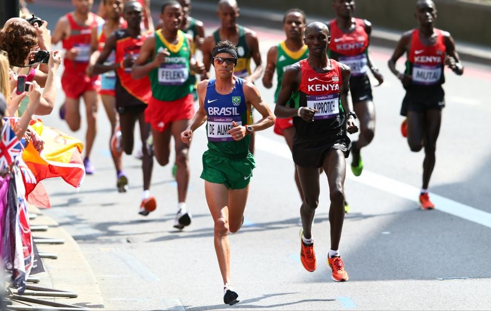 Franck Caldeira na Maratona de Londres de 2012. Foto: Michael Steele | Getty Images