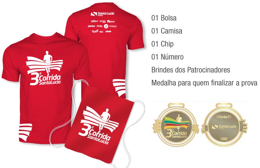 Corrida Santa Lúcia 2015 - Kit