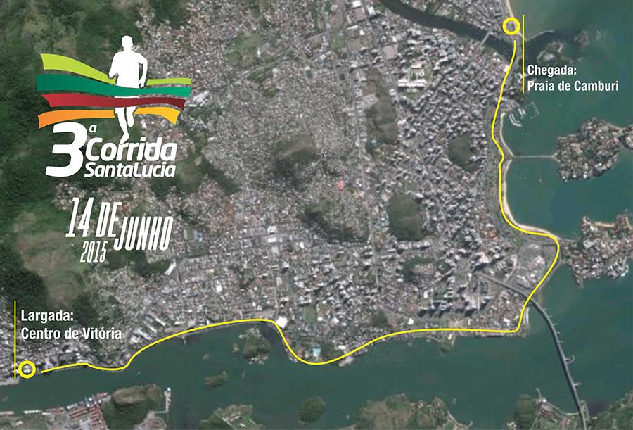 Corrida Santa Lúcia 2015 - Mapa