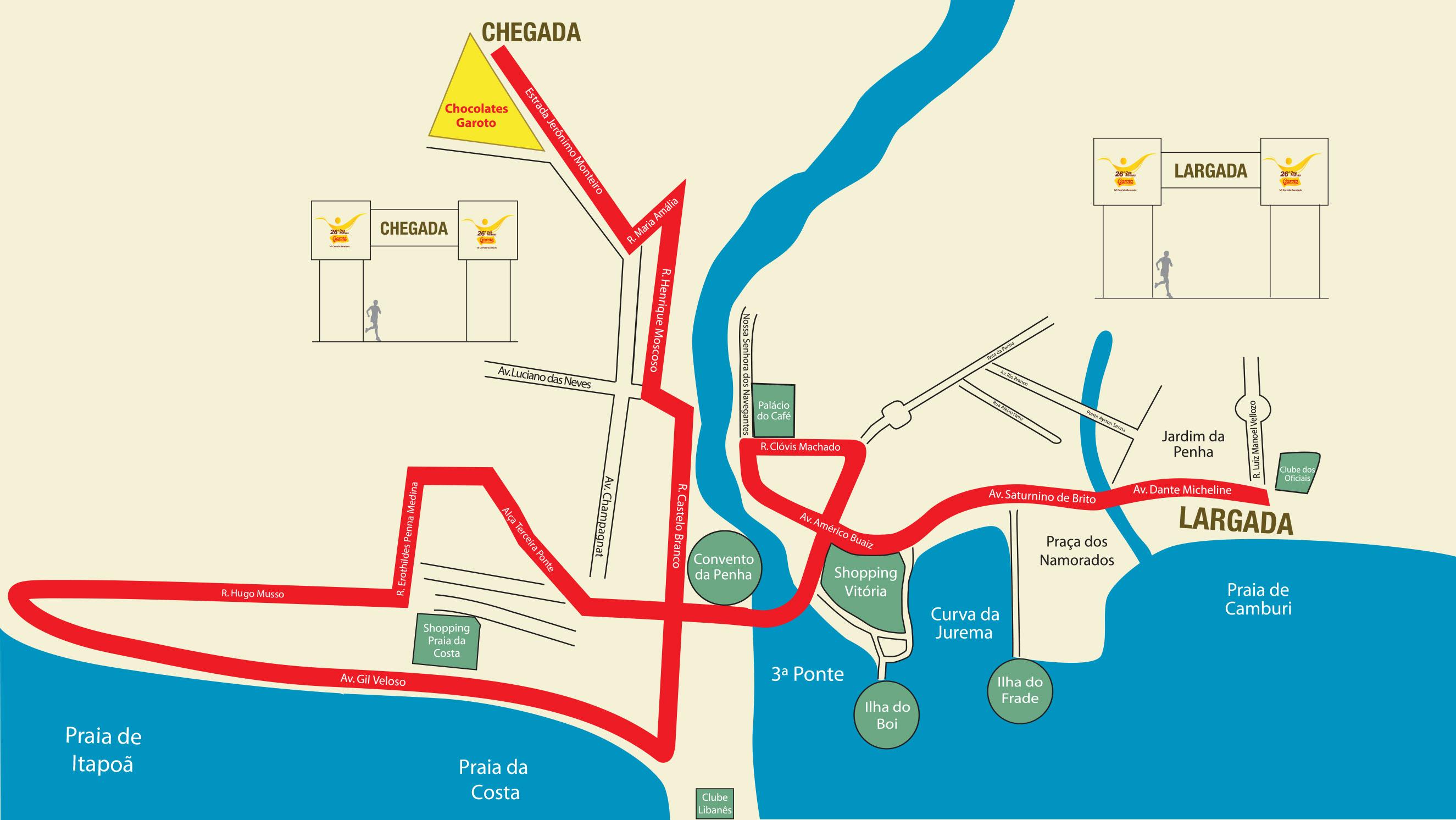 Mapa Percurso 26ª Dez Milhas Garoto