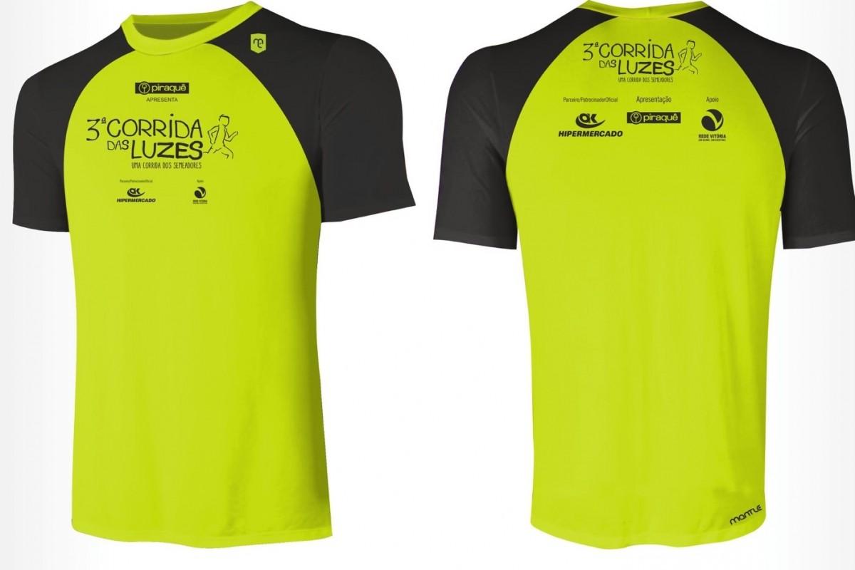 71cefe5627 Corrida das Luzes terá camisa neon para iluminar a 3ª Ponte. Compre já a  sua!