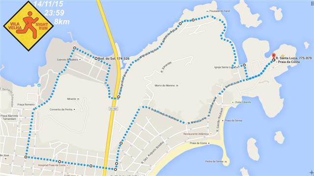 Vila Velha Night Run - percurso