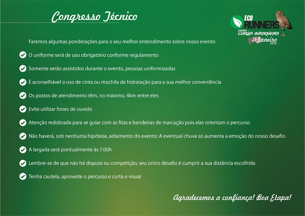 Congresso Técnico Coruja Buraqueira