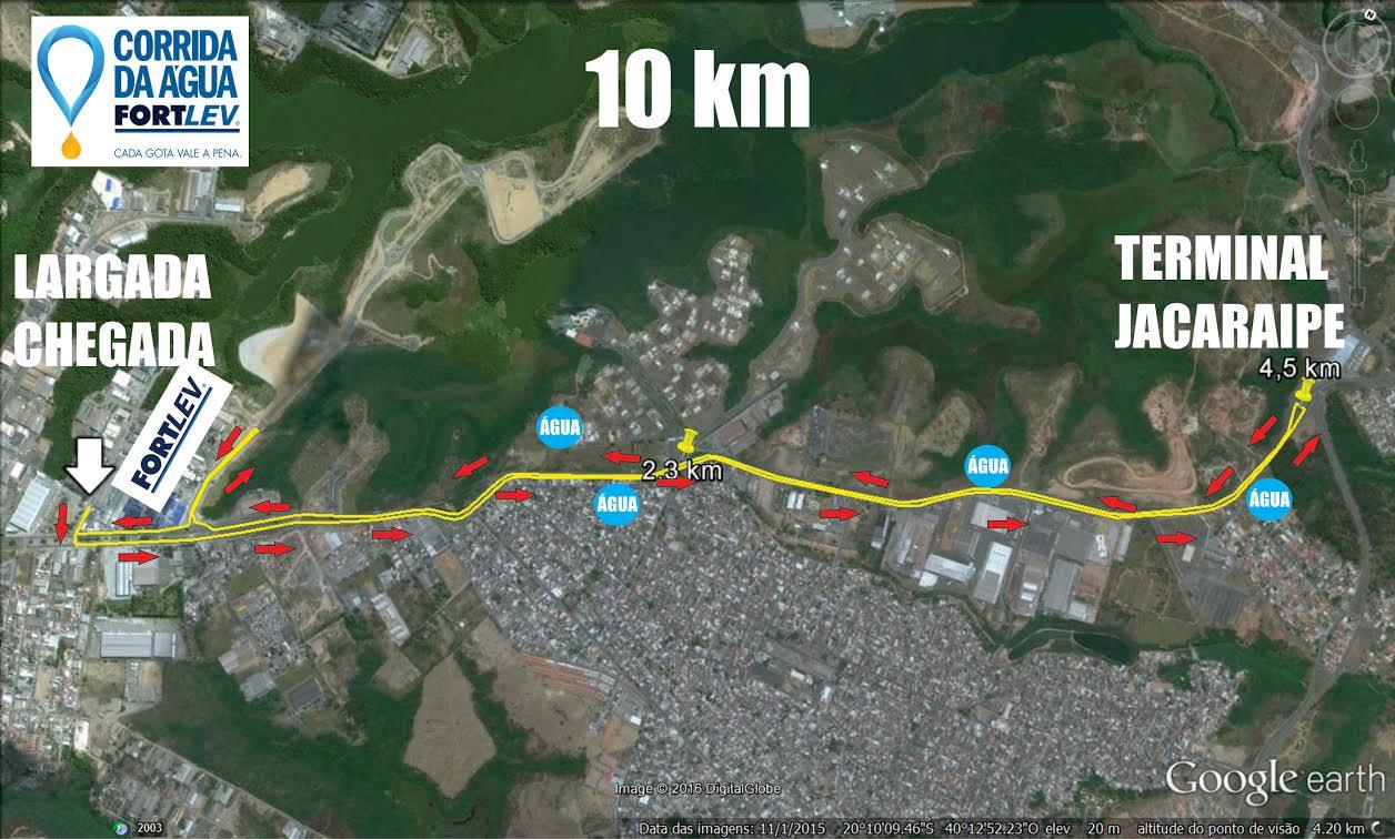 Percurso 10km