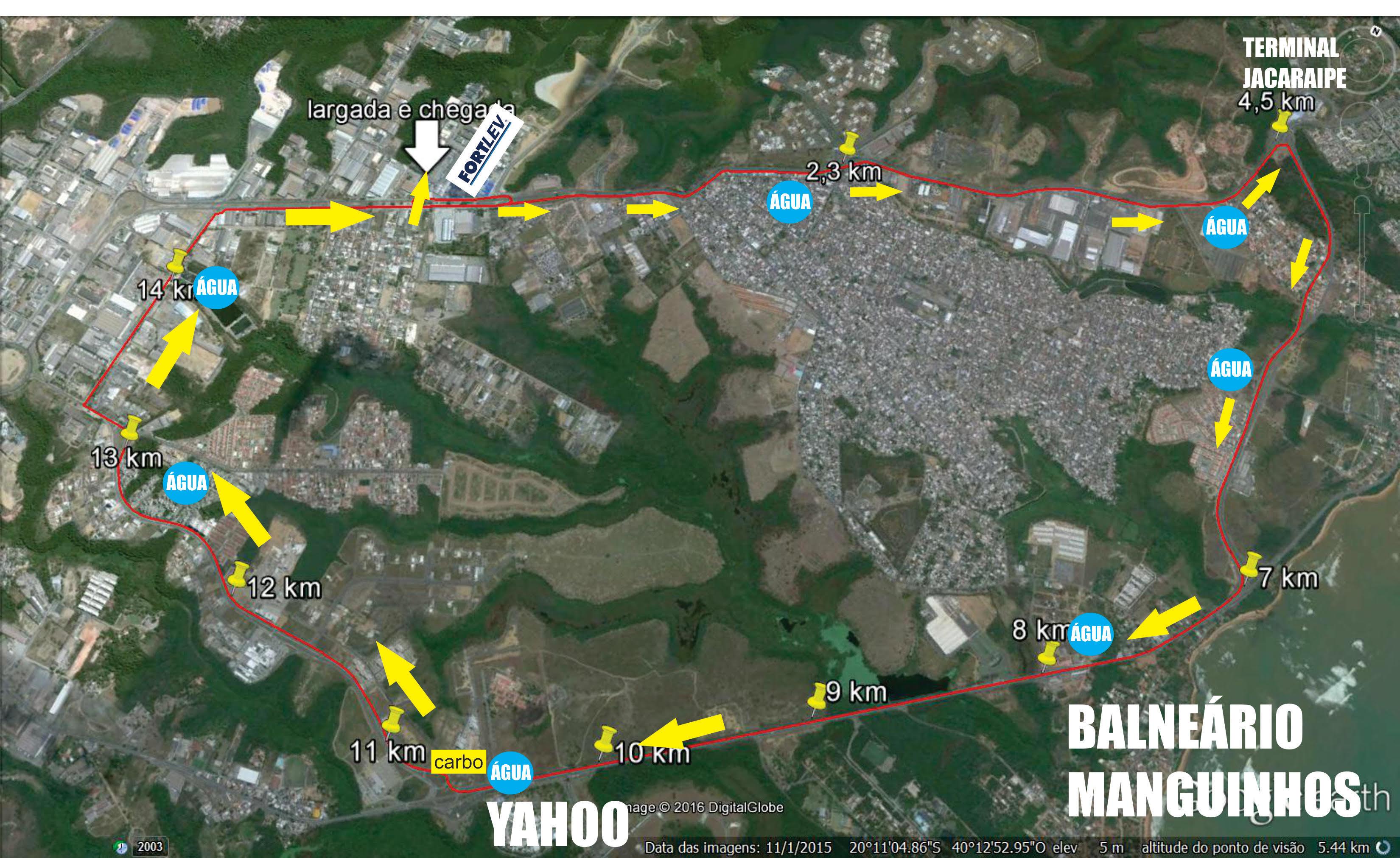 Percurso 16km