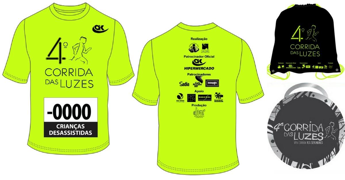 1e4fe313e4 Kit da Corrida das Luzes tem camisa neon
