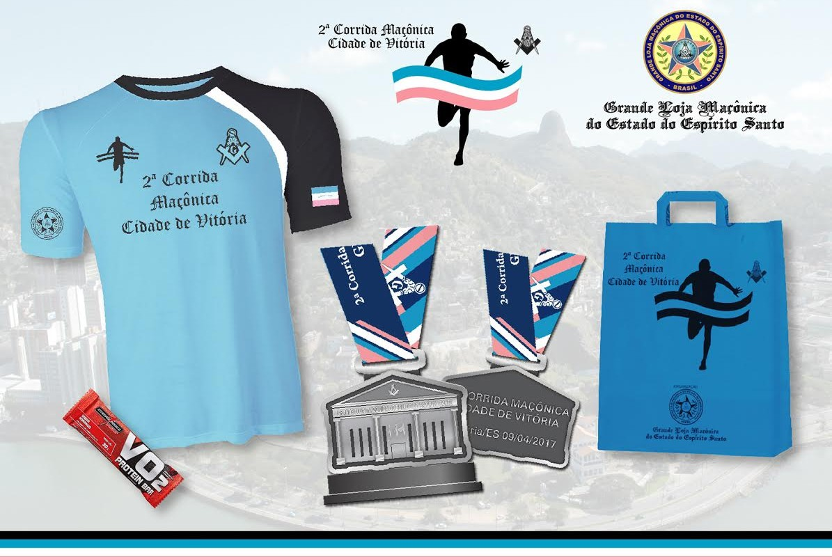 Confira o kit da 2ª Corrida Maçônica Cidade de Vitória e garanta já o seu. Inscreva-se!