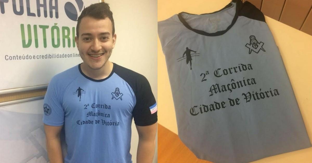 24ab3faf3 Blog mostra a camisa da Corrida Maçônica que será entregue a partir de 6ª  feira