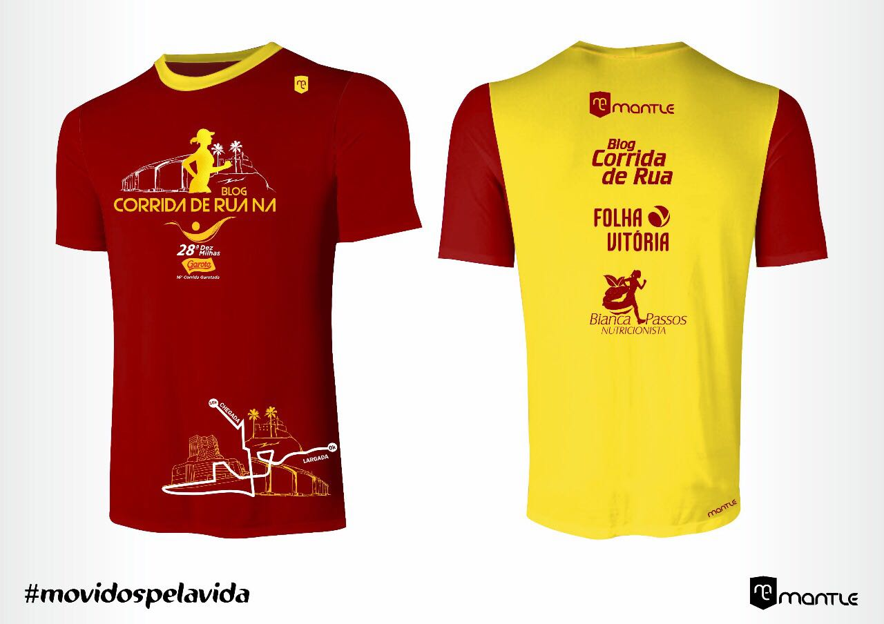 c8d5f1781 A cor amarela estampa as costas da camisa juntamente com as logomarcas dos  parceiros  Mantle