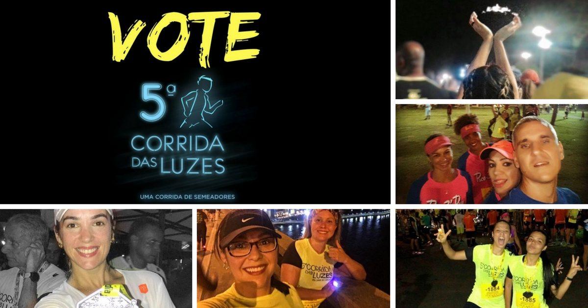 Vote nas melhores fotos registradas durante a 5ª Corrida das Luzes!