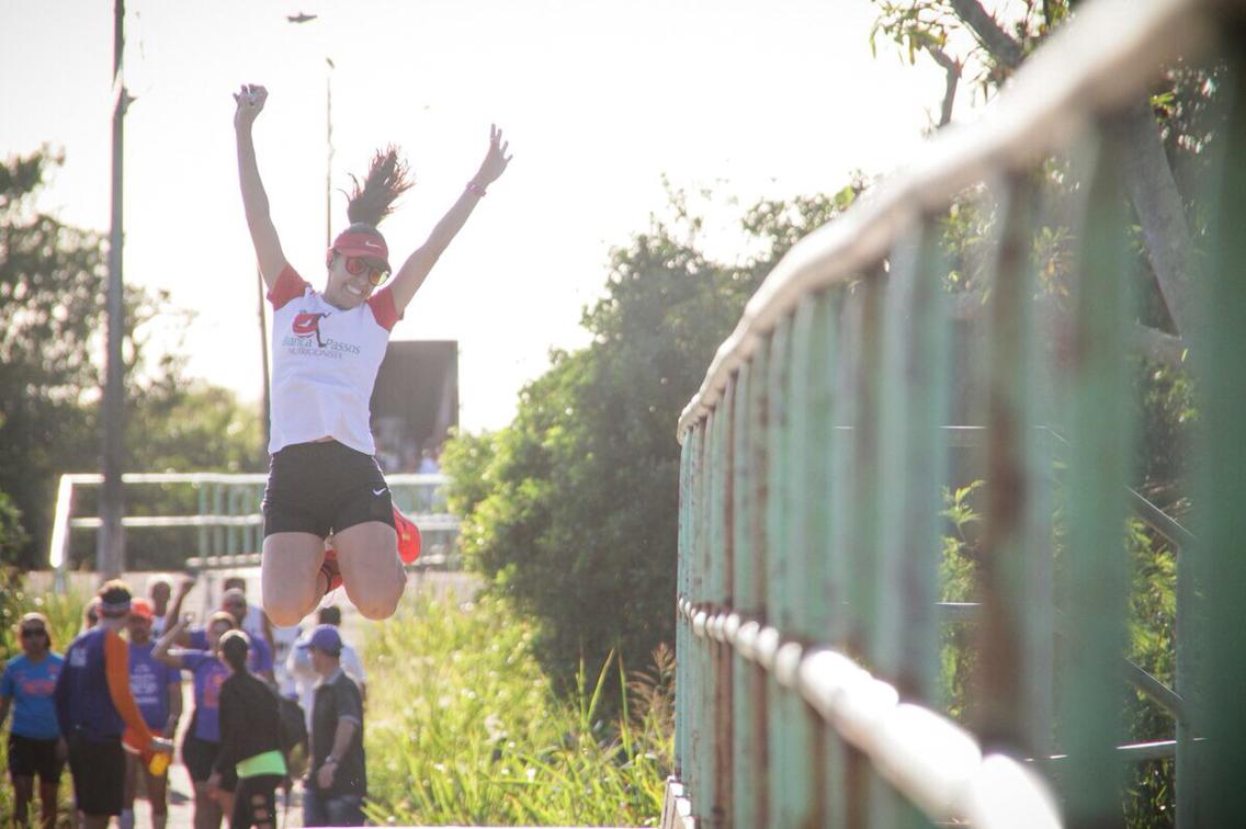 Corredores prestam homenagem à Ponte da Madalena, cenário de treinos e provas