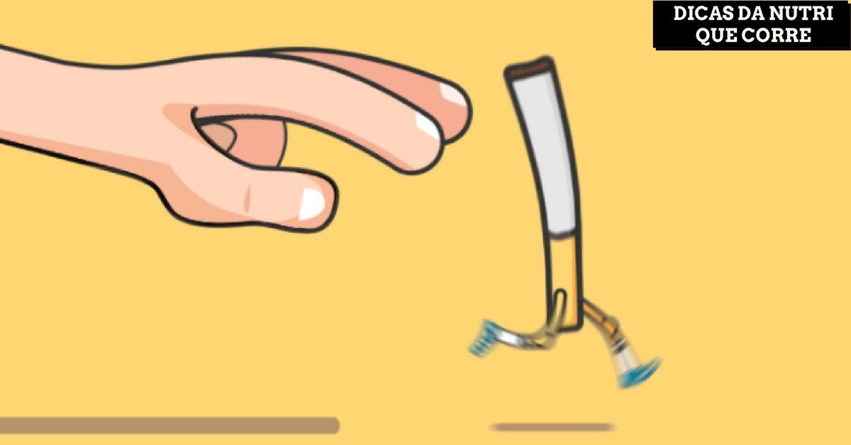 Cigarro é vilão dos nutrientes. Dicas da Nutri que Corre para desintoxicar do tabaco