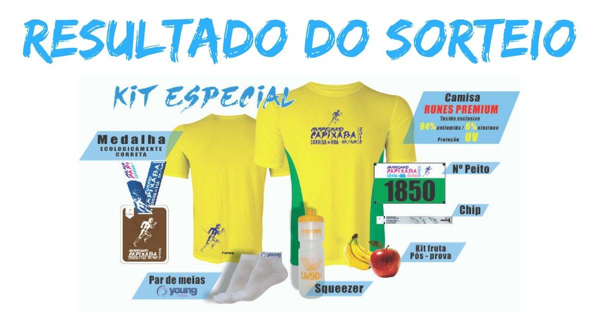 Resultado do sorteio de kits do Campeonato Capixaba de Corrida de Rua