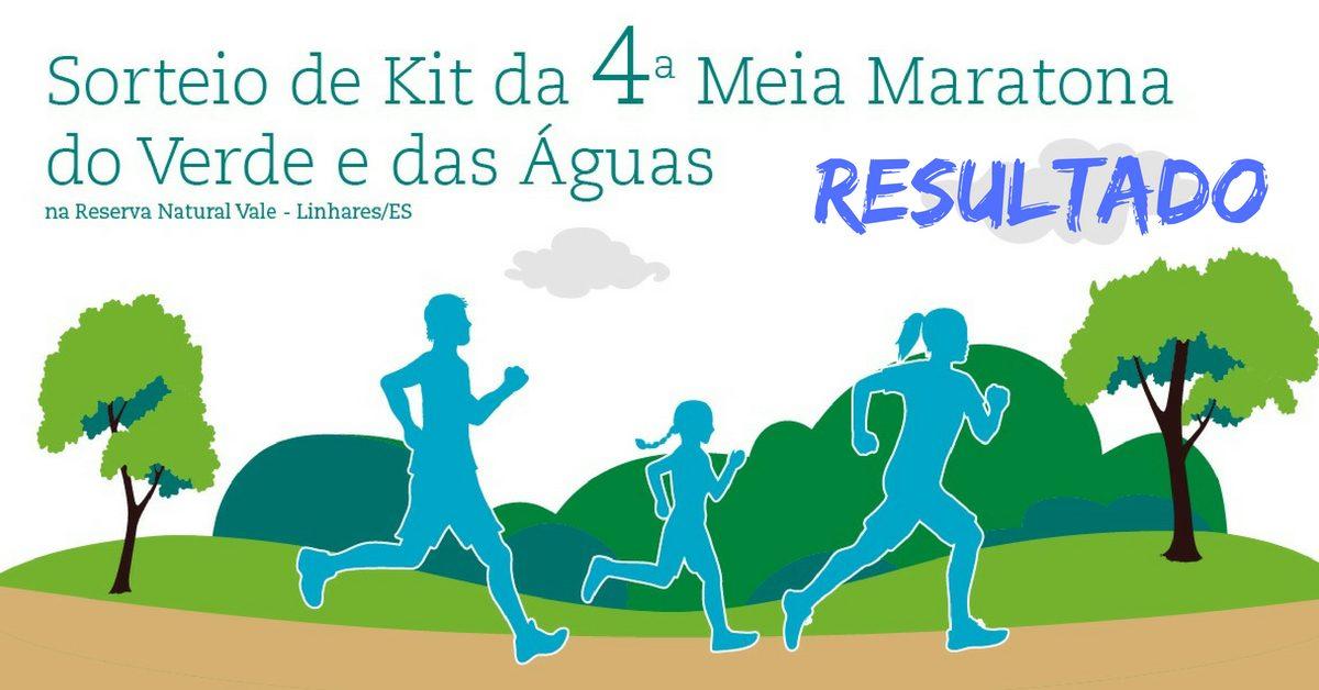 Resultado do sorteio de kit da Meia Maratona do Verde e das Águas