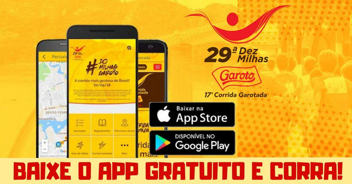 Dez Milhas Garoto lança app grátis com informações para corredores. Baixe aqui!