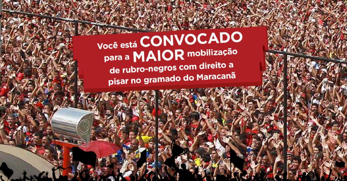 Alô, Nação Rubro Negra! Flamengo lança corrida que passa pelo gramado do Maracanã