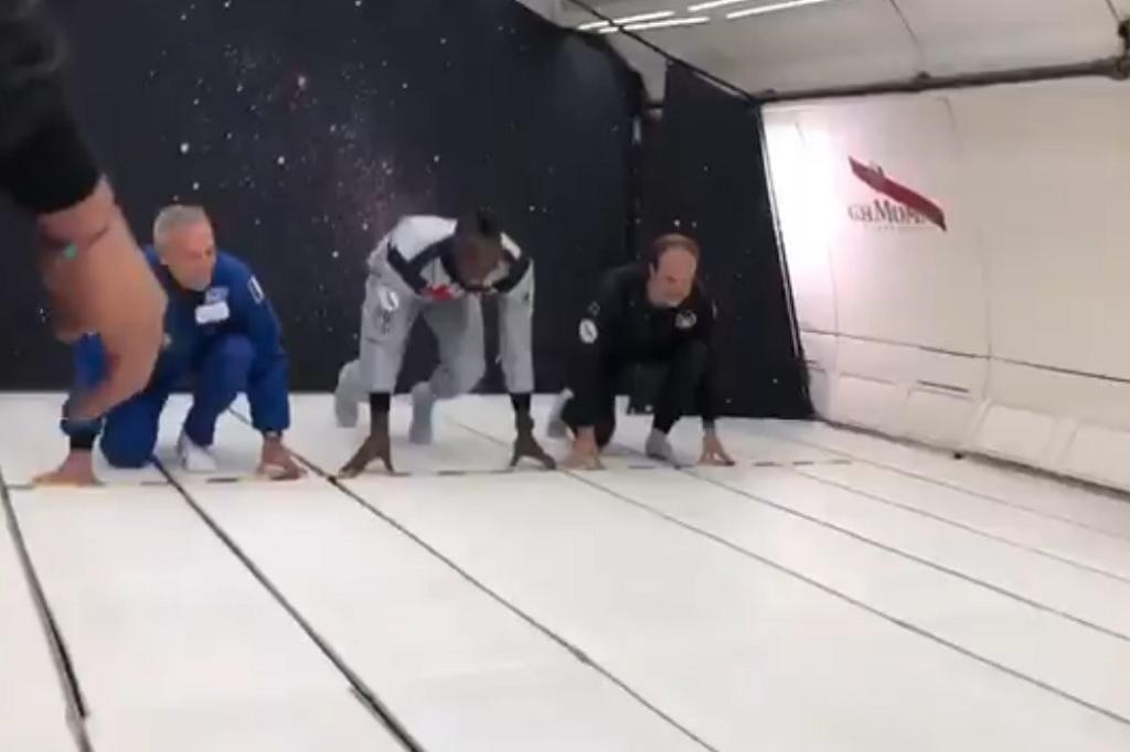Com gravidade zero, Usain Bolt volta a correr e vence prova espacial contra astronauta