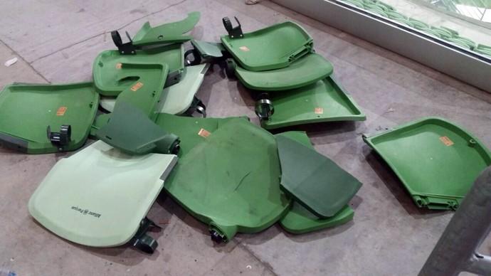 Destruição no clássico Palmeiras x Corinthians. (Foto: Divulgação)