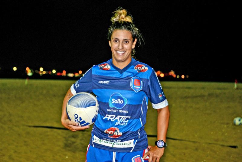Noele sai das areias de Camburi para defender o atual campeão italiano na Champions League. (Foto: André Sobral)