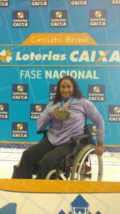 Patrícia Pereira volta com três ouros e confirma sua vaga nos Jogos Paralímpicos