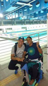 Leonardo Miglinas e Patrícia Pereira: enfrentaram um longo caminho até os Jogos. (Foto: Reprodução Facebook)