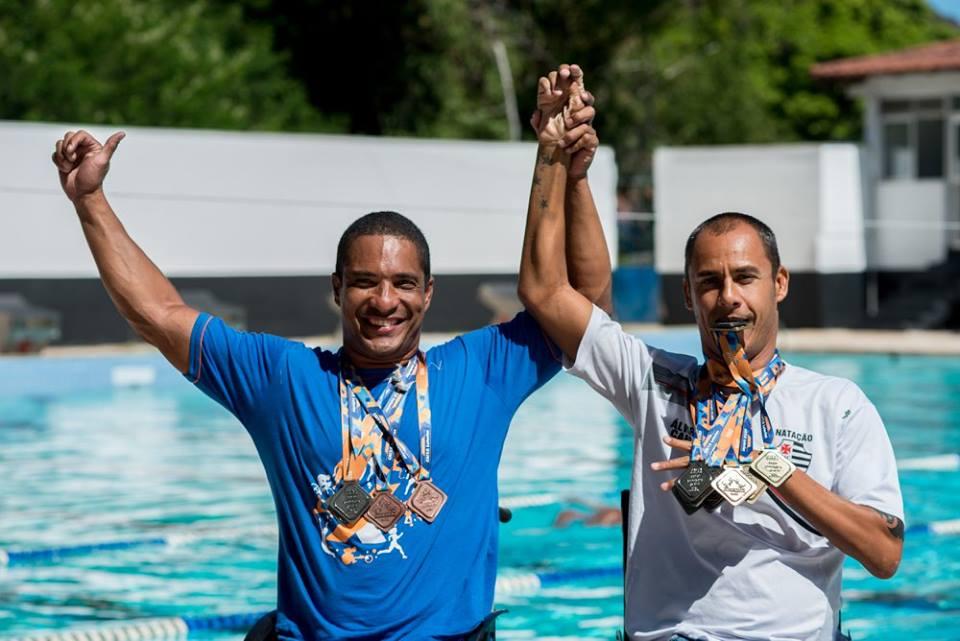 Dupla campeã: Marcos Vinícius Barcelos e Tiozinho prometem trazer muitas medalhas para o Espírito Santo. (Foto: André Sobral)