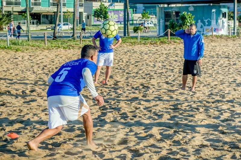 Treino Equipe Vitória de Beach Soccer