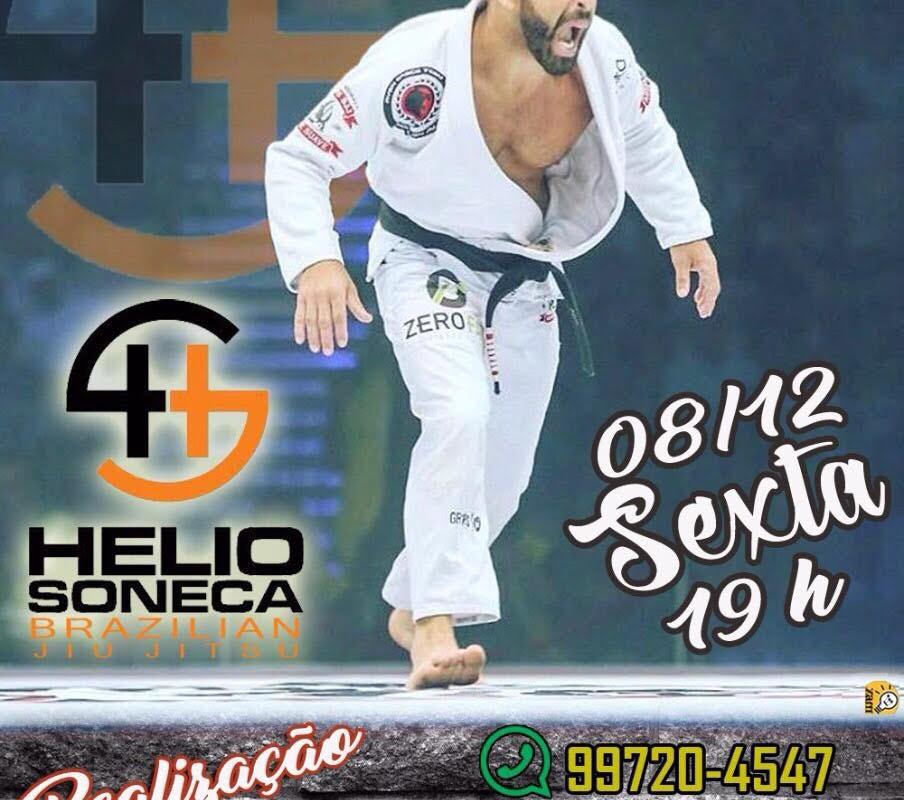 08/dez tem seminário de Jiu Jitsu com o Mestre Hélio Soneca, em Vila Velha.
