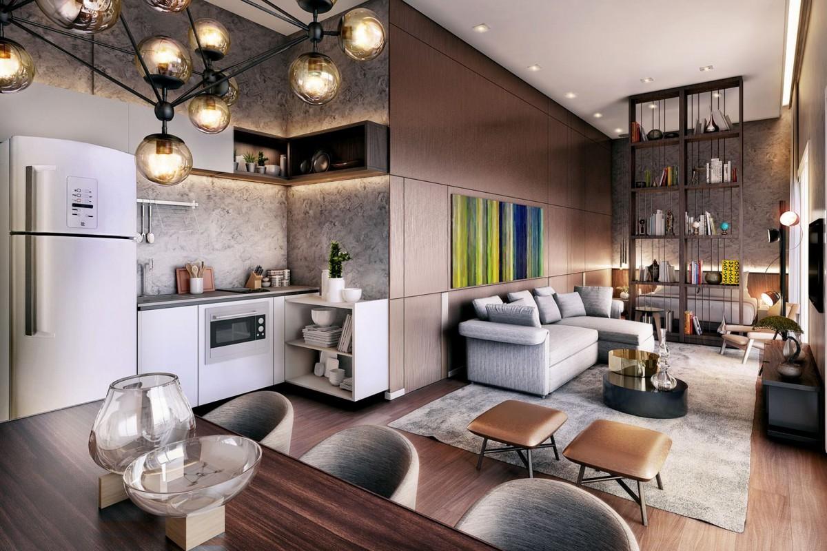 apartamento pequeno nada como a integra o de espa os para ampliar. Black Bedroom Furniture Sets. Home Design Ideas
