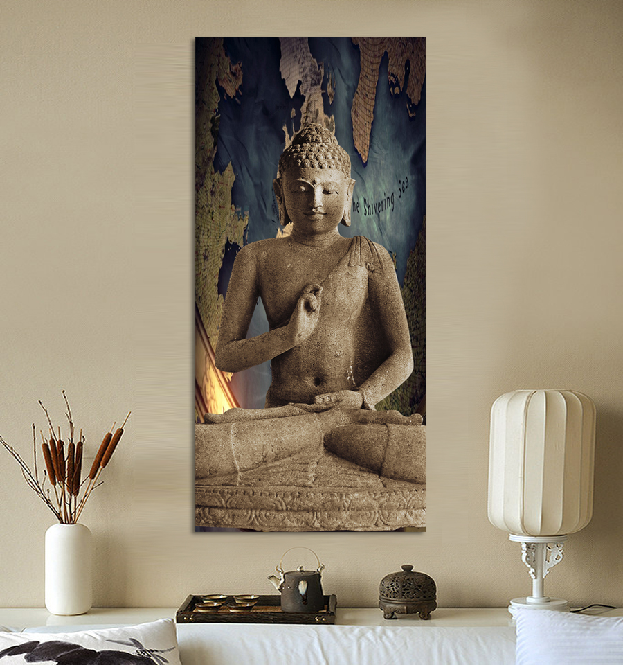 1-home-decor-wall-hanging-art-paintings-Oriental-Buddha-statue-digital-pictures-canvas-spray-painting-frameless