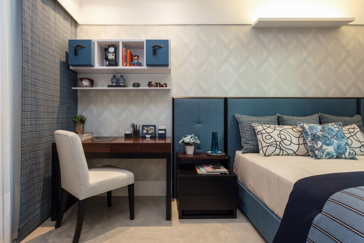 eleg ncia e luxo em novo conceito de su te masculina. Black Bedroom Furniture Sets. Home Design Ideas