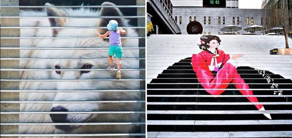 15 escadarias pelo mundo que vão te surpreender com a arte urbana
