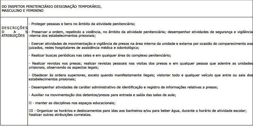 Mais no www.sejus.es.gov.br. A seleção será por meio de avaliação de  títulos e teste físico. 1851b3bdcfce1