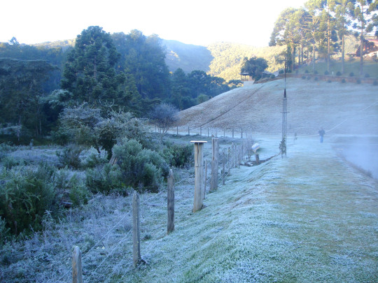 Distrito localizado em Minas Gerais registra temperaturas abaixo de zero