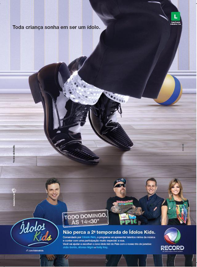nova/sb assina campanha da segunda temporada de Ídolos Kids ...
